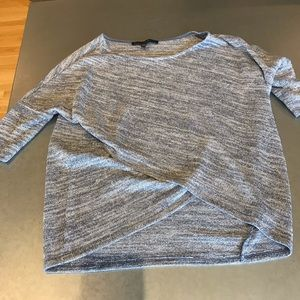 Blue sweater with silver